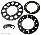 Sprocket-Quickchange 80T Kartech Black Anodised